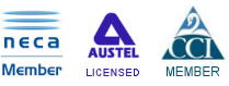Members of NECA and CCI and AUSTEL Licensed